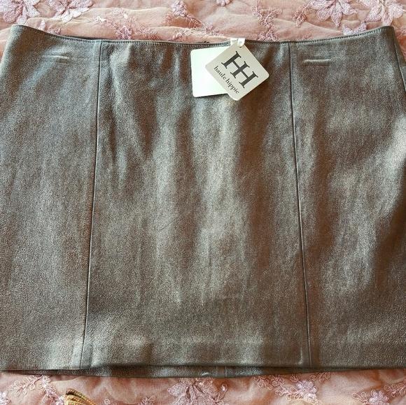 Bronze mini skirts size 29 Haute Hippie Skirts Haute Hippie Bronze Lambskin Leather Mini Skirt M Poshmark